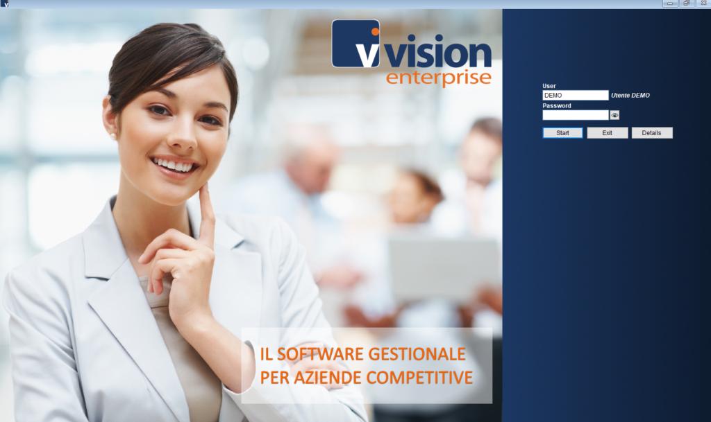 Vision Enterprise - Login form